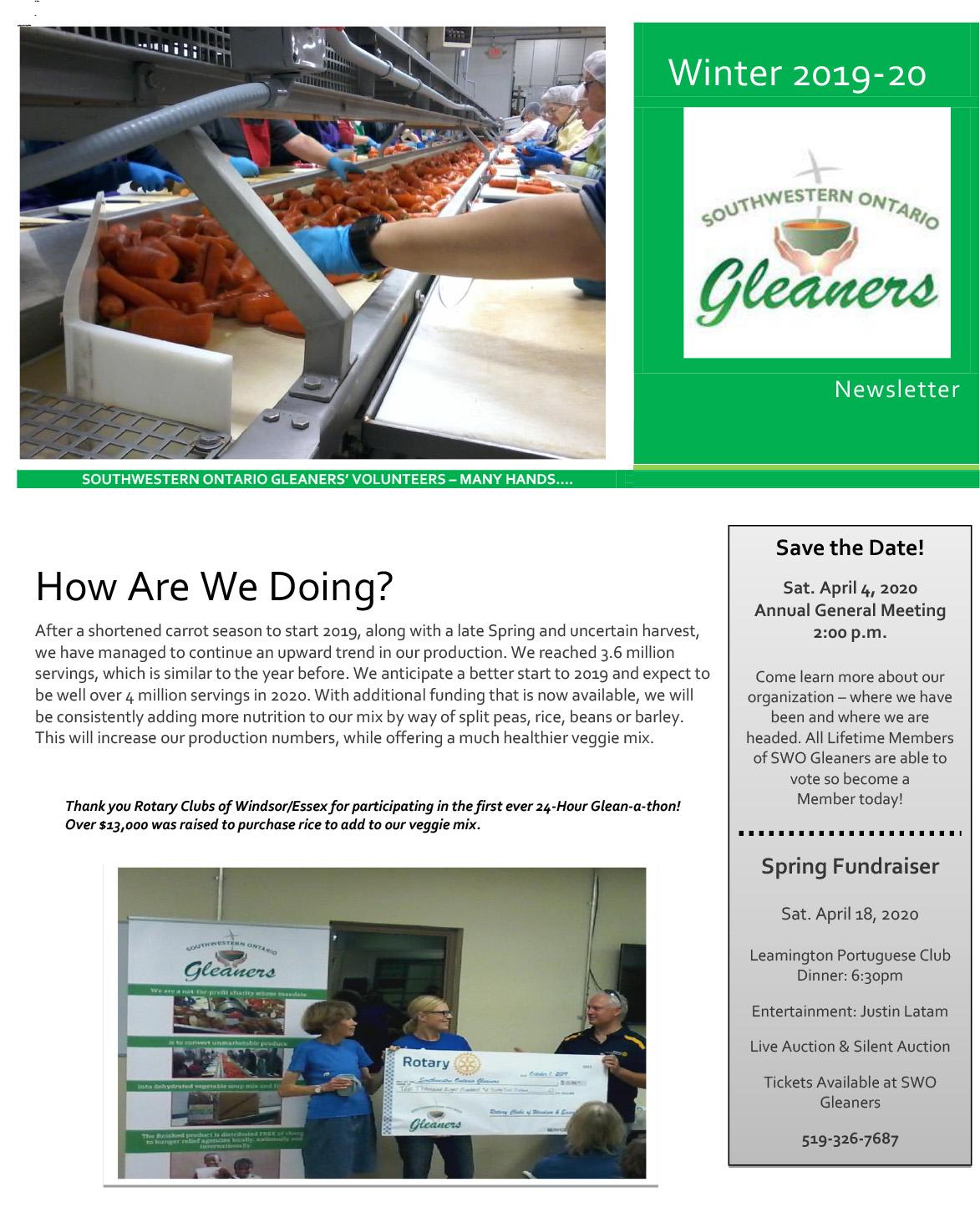 Gleaners' News